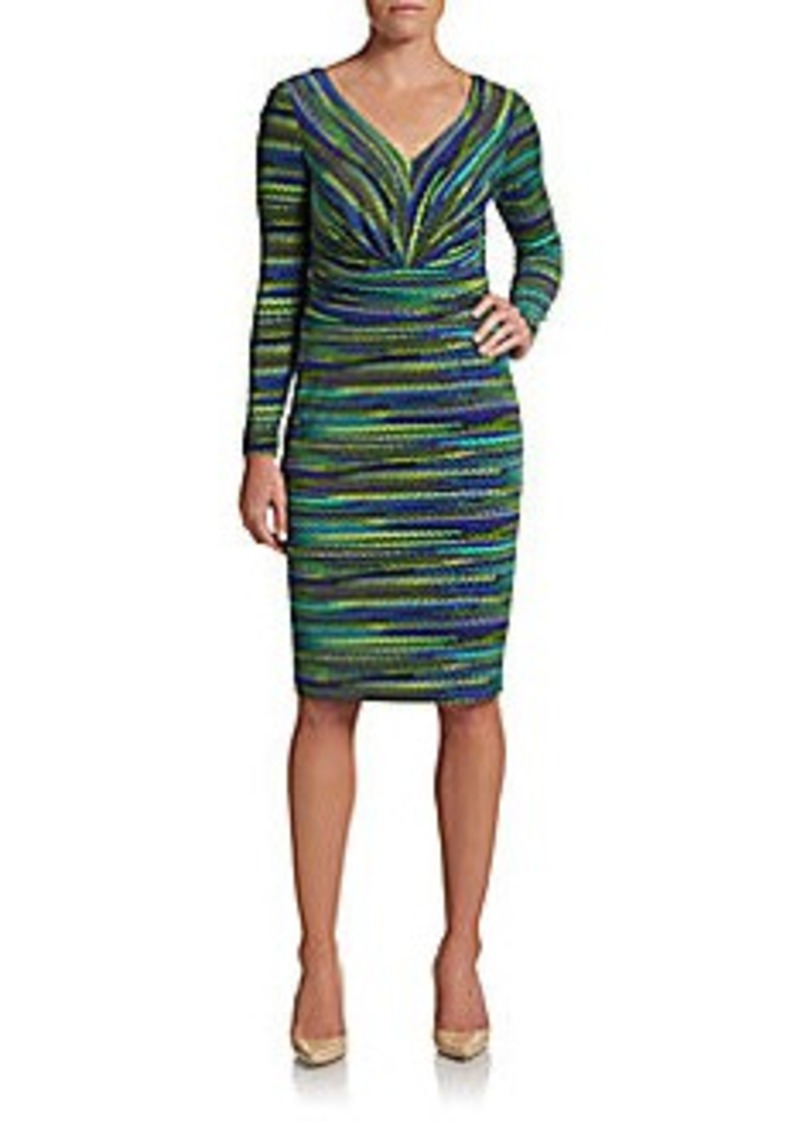 David Meister Space-Dyed Sheath Dress