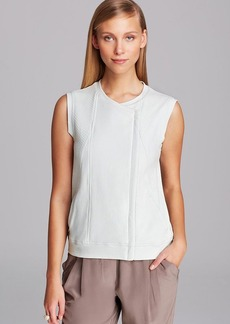 Joan Vass Quilted Vest Top