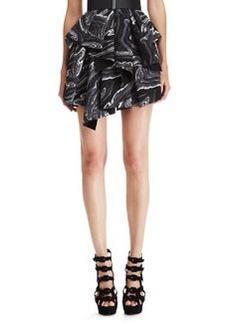 Robert Rodriguez Marbled Ruffled Skirt