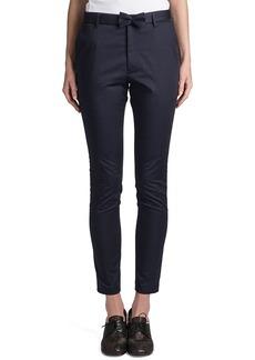 Jil Sander Rocky Bow-Belt Pants, Navy Blue