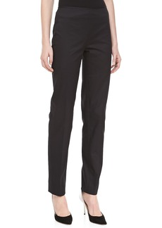 Michael Kors Relaxed Stretch-Twill Pants, Black