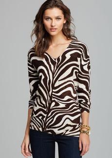 MICHAEL Michael Kors Marbled Zebra Print Sweater