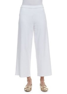Joan Vass Cotton Interlock Wide-Leg Pants