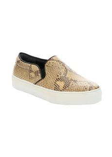 Celine beige python 'Skate' platform sneakers