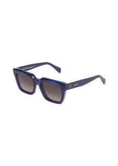 Celine blue rectangle frame 'Traveller' sunglasses