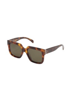 Celine brown tortoise print rectangle frame 'Essential' sunglasses
