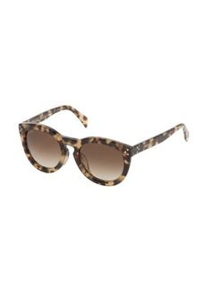 Celine brown tortoise print round frame 'New Audrey' sunglasses