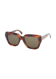 Celine brown tortoise thick square 'Cocoon' sunglasses