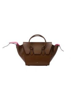 Celine camel leather flap front trapeze bag
