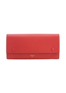 Celine coquelicot leather continental wallet