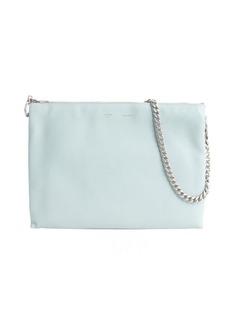 Celine glacier and green and brown leather colorblock shoulder bag