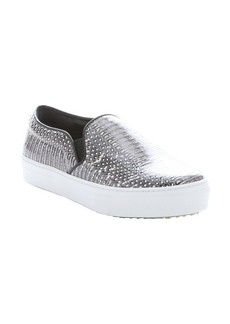 Celine grey python 'Skate' platform sneakers