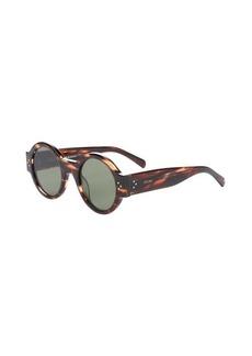 Celine havana beige tortoise shell 'Round' 47mm sunglasses