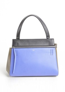 Celine indigo colorblock calfskin top handle bag