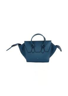 Celine metallic blue leather 'Tie Knot' tote bag