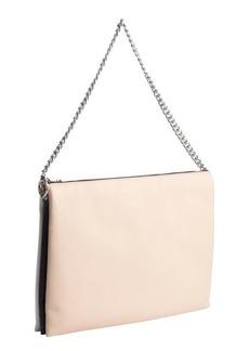 Celine pink, black and white leather 'Trio' shoulder bag