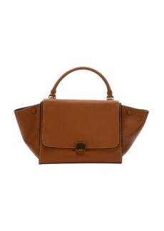 Celine Pre-owned: tan leather trapeze top handle tote