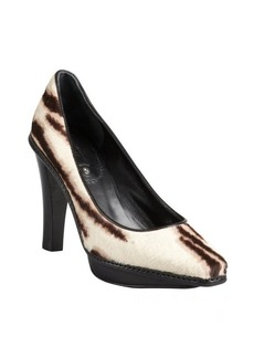 Celine tiger striped calf hair platform pumps