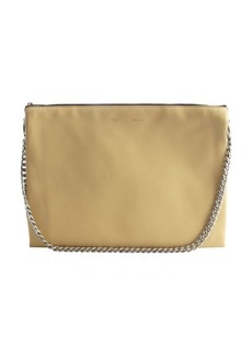 Celine vanilla, brown and pale yellow leather 'Trio' shoulder bag