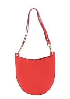 Celine vermillion leather small shoulder bag