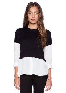 Central Park West Columbus Layered Long Sleeve Top
