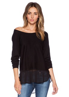 Central Park West Columbus Off the Shoulder Sweater