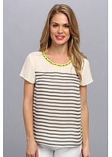 Central Park West Fiji Stripe Woven Top