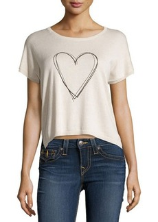 Central Park West Knit Two-Tone Graphic Top