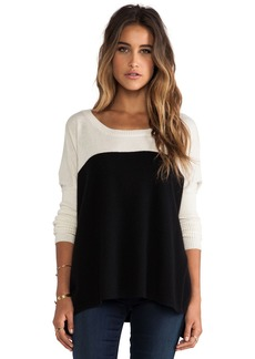 Central Park West Luxe Cashmere Colorblock Sweater