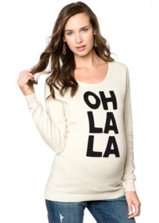 Central Park West Maternity Intarsia Graphic Sweater