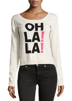 Central Park West Oh La La Sweater, Bone/Black