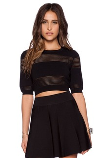 Central Park West Perforated Insert Crop Top