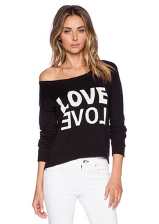 Central Park West San Antonio LOVE Cropped Sweater