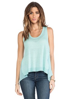 Central Park West St. Petersburg Sheer Panel Tank in Mint