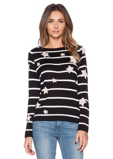 Central Park West Star Stripe Sweater