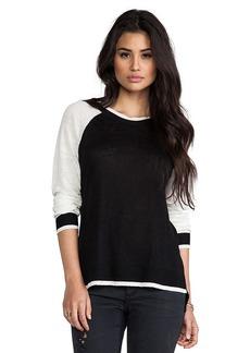 Central Park West Zanzibar Athletic Sweater in Black