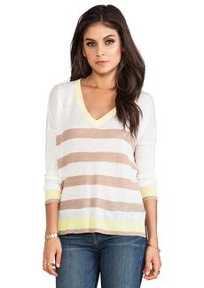 Central Park West Zanzibar Stripe Sweater in Brown