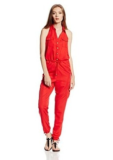 XOXO Juniors Drawstring Button Up Jumpsuit