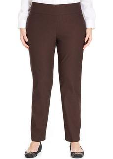 Charter Club Plus Size Tummy-Control Slim-Leg Pull-On Pants