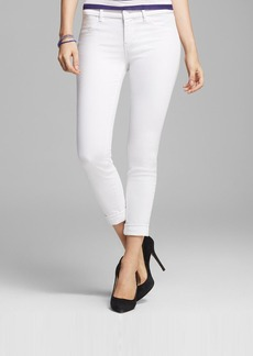 J Brand Jeans - Anja Cuffed Crop in Blanc
