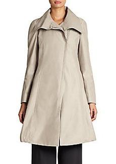 Armani Collezioni Khaki Asymmetrical-Front Coat