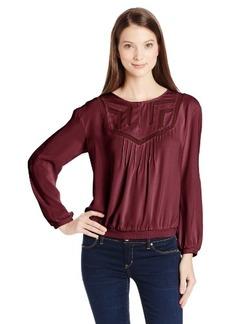 Calvin Klein Jeans Women's Geo Insert Woven Top