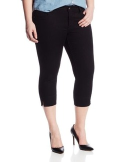 Lucky Brand Women's Plus-Size Ginger Denim Capri In Black Rinse