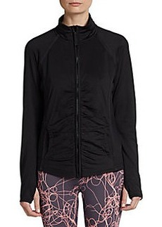 Calvin Klein Performance Shirred Zip-Front Performance Jacket