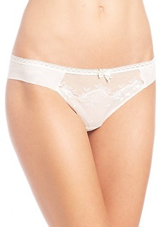 Chantelle Intuition Embroidered Mesh Tanga