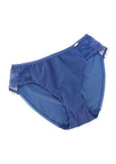 Chantelle Mademoiselle Bikini Briefs, Blue Jean