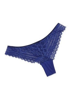 Chantelle Merci Lace Thong, Navy