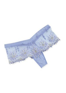 Chantelle Vendome Floral-Embroidered Hipster Briefs, Lilac