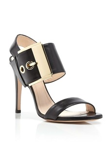 Charles David Ankle Strap Sandals - Evana Buckle High Heel
