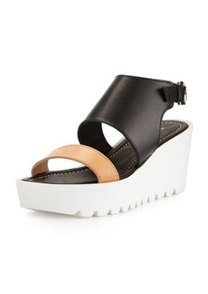 Charles David Apria Leather Wedge Sandal